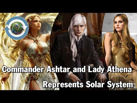 Commander Ashtar and Lady Athena represents Solar System