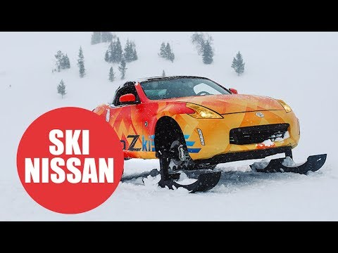 Nissan transform convertible sports car into the ultimate snowmobile
