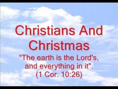 Christians And Christmas