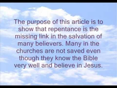 Repentance - The Missing Link
