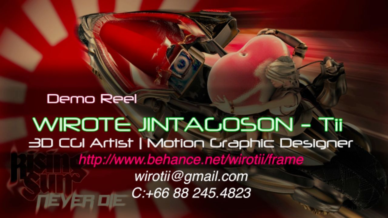 Wirote Jintagoson - Tii's Motion Graphic Demo Reel 2012