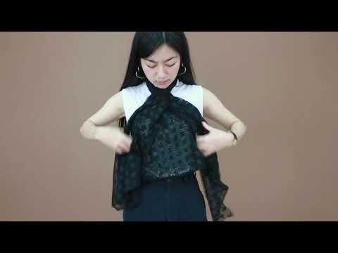 วิธีพันผ้าพันคอให้เป็นเสื้อสุดชิค
