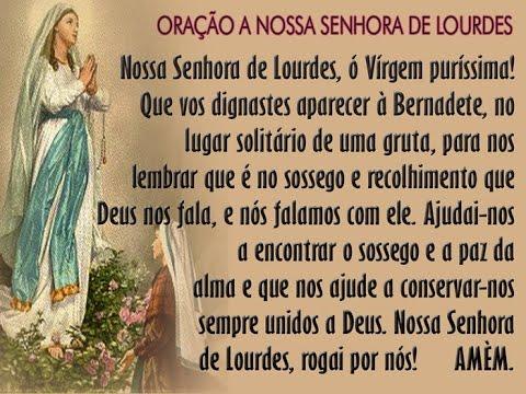 Sinais de Deus - 1° Dia da Novena de Nossa Senhora de Lourdes