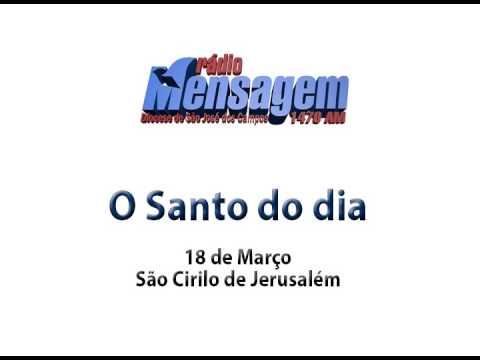São Cirilo de Jerusalém - Santo do Dia 18 de março