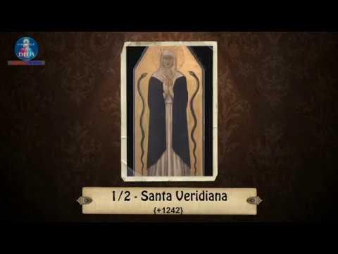 Santa Veridiana - Santa do dia 01 de Fevereiro