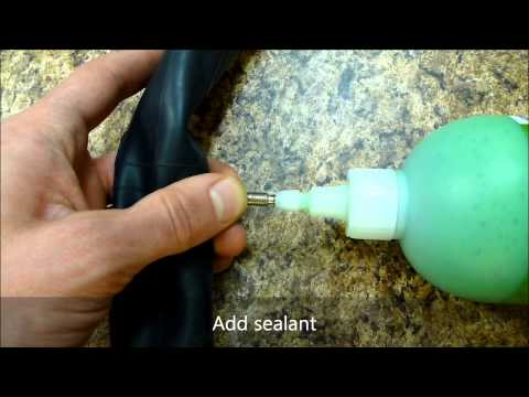 How to put slime in a presta valve tube
