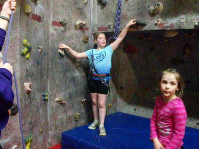 Lily Climbing at the Y