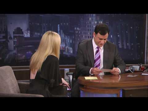 Dakota Fanning Interview On Jimmy Kimmel Pt 1 of 2