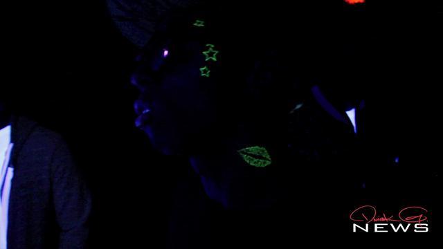 Lil Wayne Shows Off His Black Light Tattoos