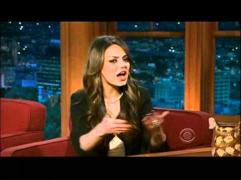 Mila Kunis Hilarious Interview With Craig Ferguson 1 of 2