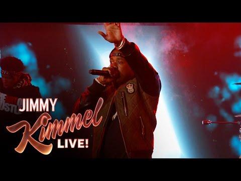 "Yo Gotti ft. Travis Barker Performs ""Down in the DM"" On Jimmy Kimmel Live"