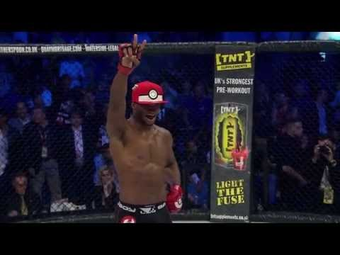Michael Page Tries To Capture Evangelista Santos With Pokeball After Brutal Knockout At Bellator 158