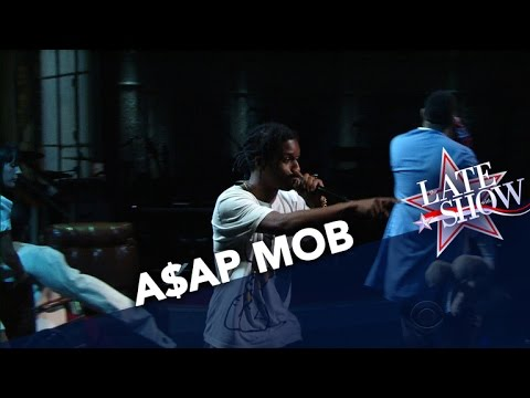 A$AP Mob Performs 'Crazy Brazy' On The Late Show with Stephen Colbert