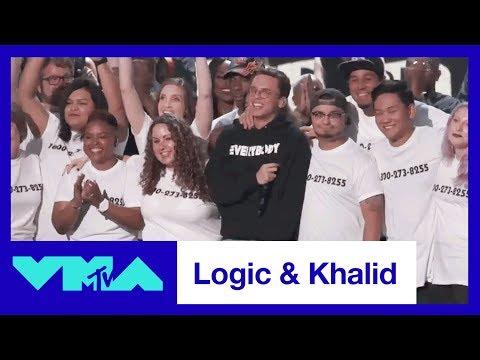 "Logic & Khalid Perform ""1-800-273-8255"" | 2017 VMAs | MTV"