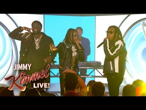 """Gucci Mane Performs """"I Get The Bag"""" feat. Migos on Jimmy Kimmel Live"""