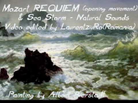 Seascape Paintings/ NATURE SOUNDS-SEA STORM & MOZART REQUIEM