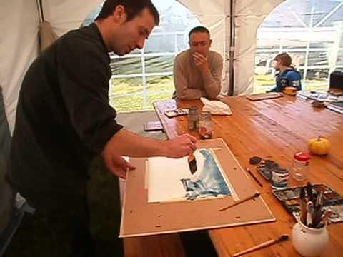 Initiation à l'aquarelle Créa roch 2013 par sébastien palate