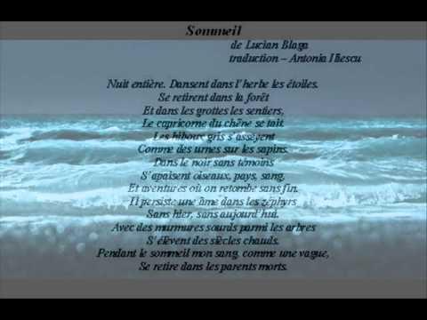 Sommeil - antonia iliescu / Lucian Blaga