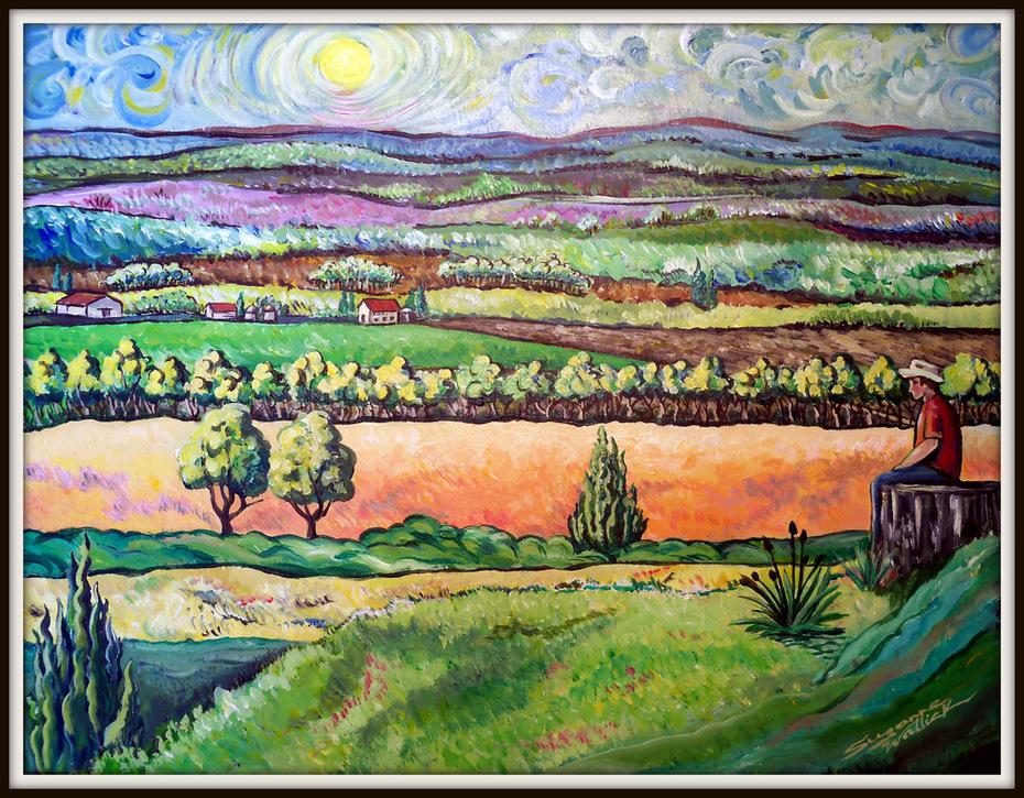 Coronado Heights,  Van Gogh Style 6-30-12