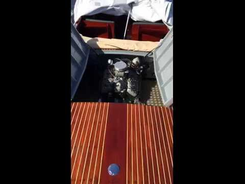 Marine Ford Flathead V8 at idle in engine bay