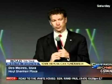 Rand Paul - Iowa Republican Fundraiser Segment: 04/03/11