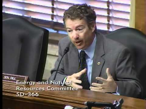 Sen. Rand Paul Questions Energy Sec. Chu