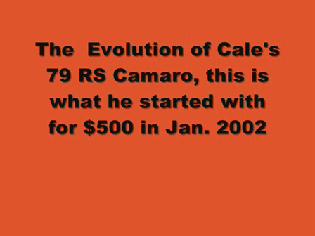 Evolution of Cales's Camaro