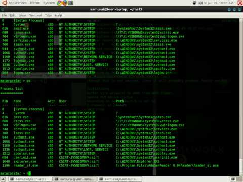 Picking on a poor xp machine with metasploit