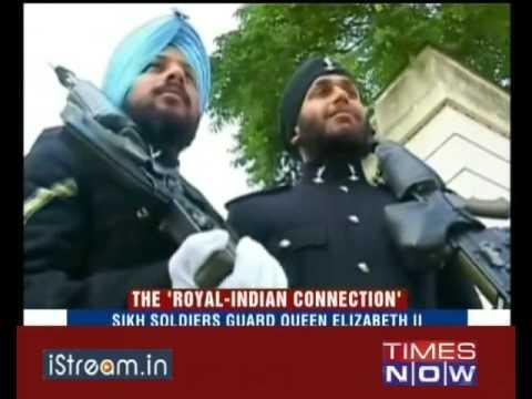 Sikh soldiers guard Queen Elizabeth II
