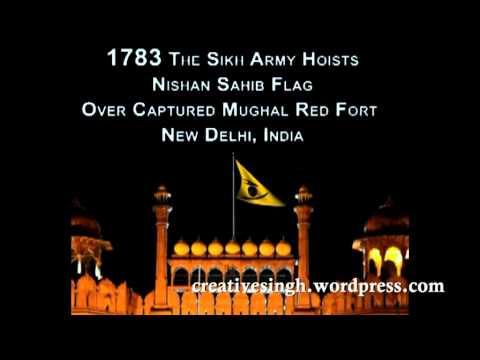 1783 Mughal Red Fort Delhi India Sikh Flag Hoisted