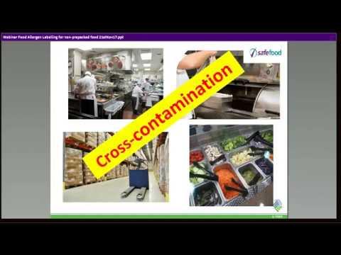 Food Allergen Labelling for non prepacked food - Webinar