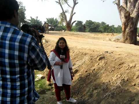 land mines wire under bushes and Timesnow reporter Jagori dhar live on her channel