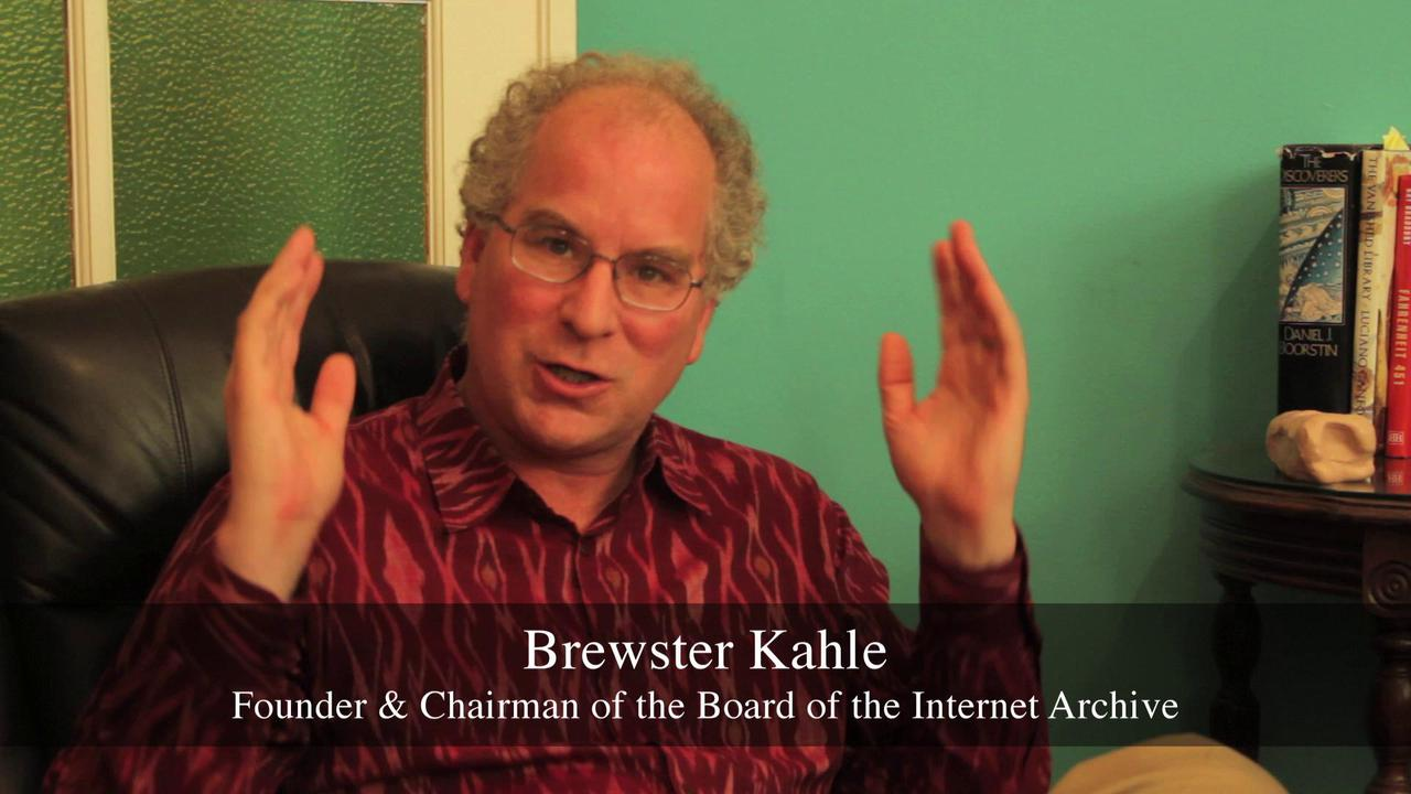 Brewster Kahle: SPARC guest for Open Access Week 2011
