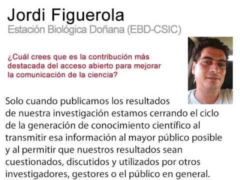 Digital.CSIC (divulgación): testimonios CSIC sobre el Acceso Abierto. Jordi Figuerola