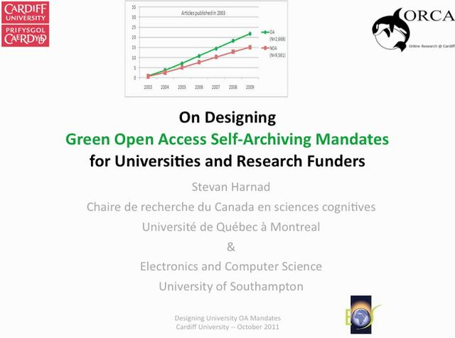 Designing Green Open Access Self-Archiving Mandates