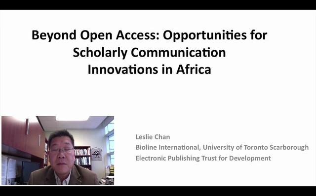 Opportunities for Scholarly Communication Innovations in Africa