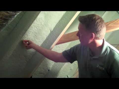 Lumpy Spray Foam Insulation in an Attic