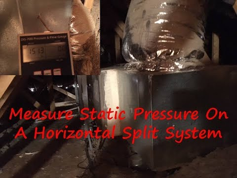 How To Measure Static Pressure On A Horizontal Unit In The Attic