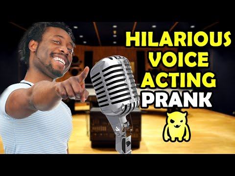 Hilarious Voice Acting Lessons Prank - Ownage Pranks