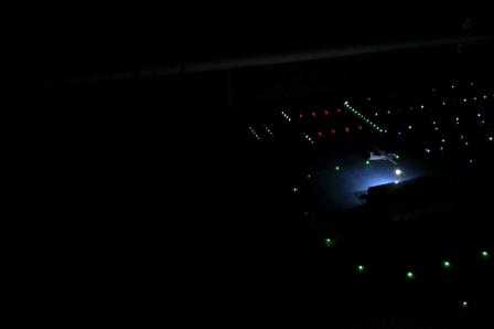 airport lights on dark