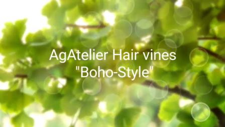 boho style hair vine