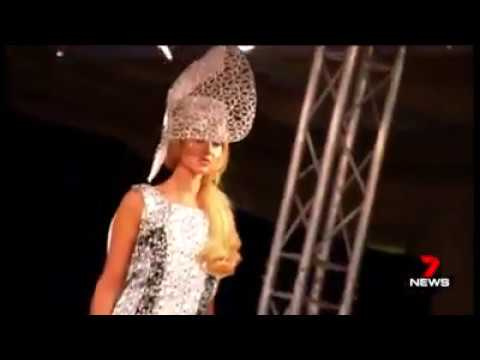 Channel 7 news report Ana Bella Millinery London Fashion Week 2017 House of ikons show