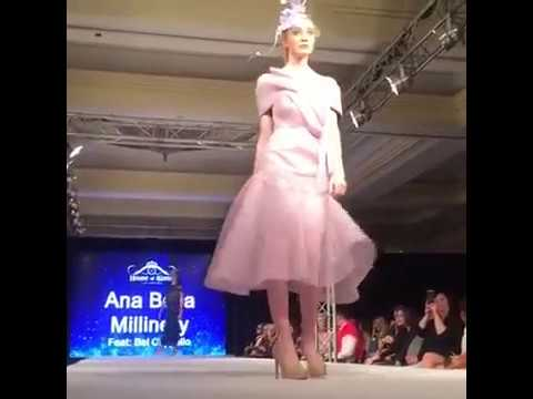 Ana Bella Millinery London Fashion Week House of Ikons 2017 Live show