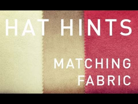 How To Make Hats - Matching Fabric