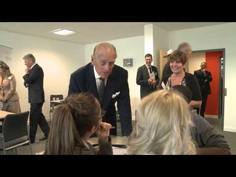HRH The Duke of Edinburgh visits the Business and Technology Centre (btc)