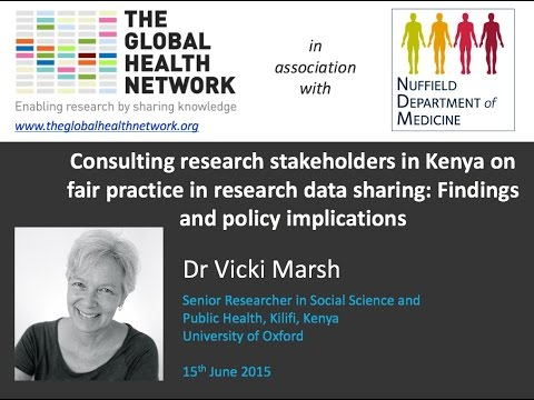Consulting research stakeholders in Kenya on fair practice in research data sharing