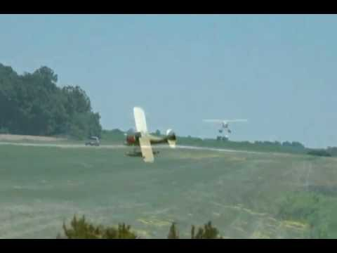 Aeronca Sedan Floatplane Launch at the Poplar Grove Airport (C77)