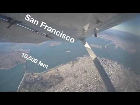 Aerial 4K GoPro video over San Francisco from 10,500 feet