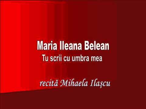 RVR - Maria Ileana Belean - Tu scrii cu umbra mea - recită Mihaela Ilaşcu