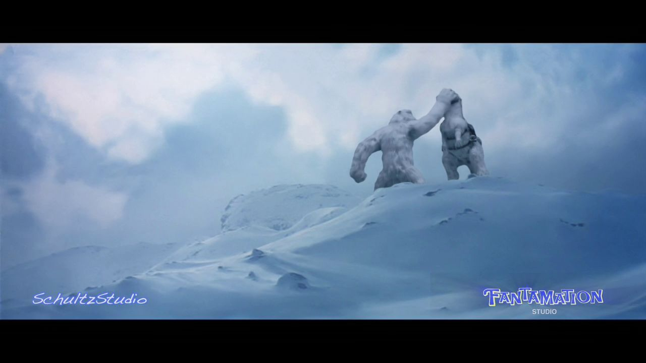 EMPIRE STRIKES BACK WAMPA ATTACK STOP MOTION FOOTAGE  - EDITED SCENE
